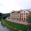 Our hotel & buildings on the banks of the Pskov River.