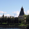 Kremlin towers viewed from the café.