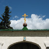 Entrance to the Mirozh Monastery.