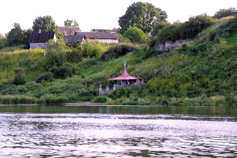 Small chapel on the river bank.