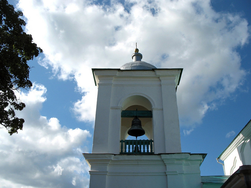 Nikolsky Cathedral bell tower inside Iborsk Fortress.