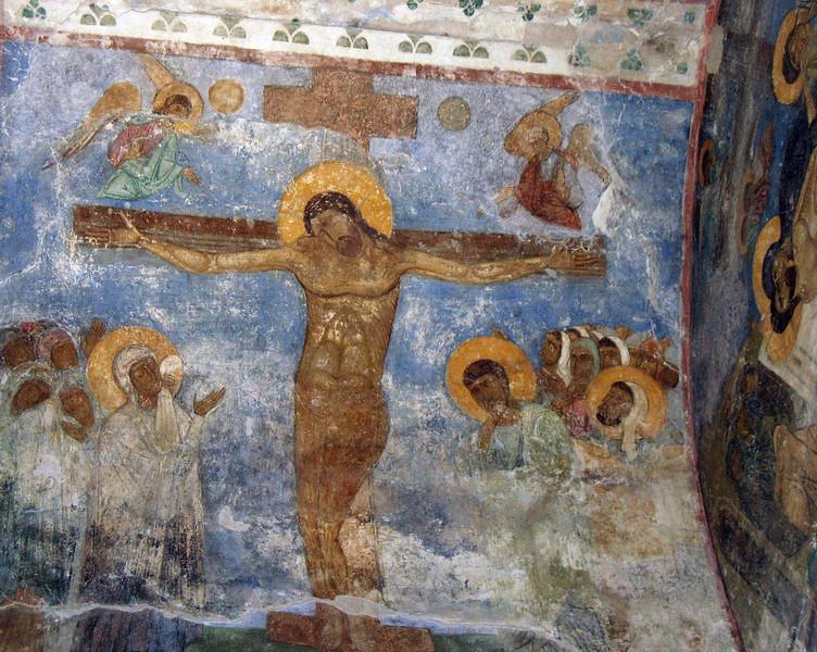 Fresco of Christ's Crucifixion.