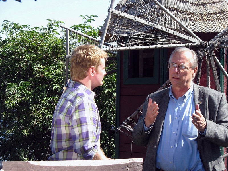 Peter interviewing Professor William Brumfield of Tulane University who accompanied us from Moscow. Professor Brumfield is an expert on Russian architecture.
