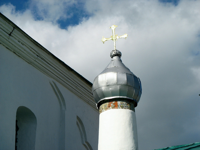 Nikolsky Cathedral detail. Iborsk Fortress
