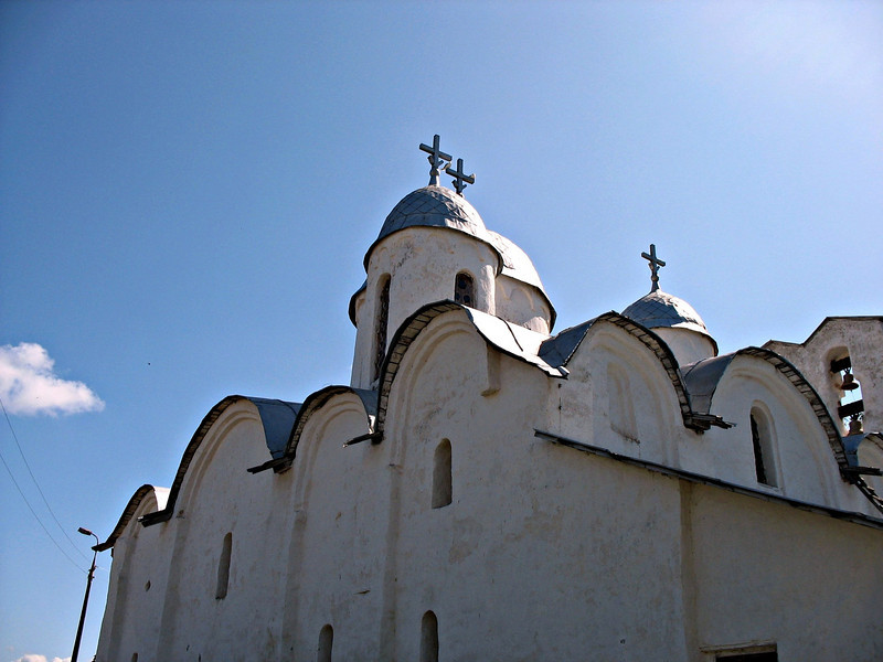 Pskov 10th century church. There are 50 churches still standing in Pskov. Prior to the revolution there were 150.