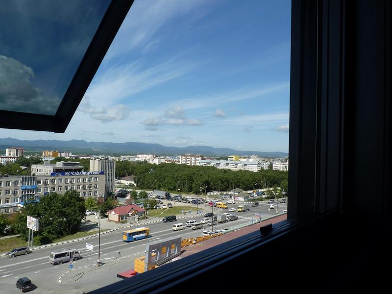 One last peek out of my hotel room window.