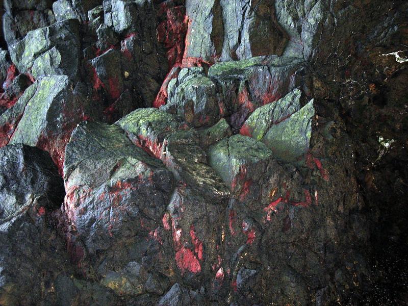 Natural red rocks.