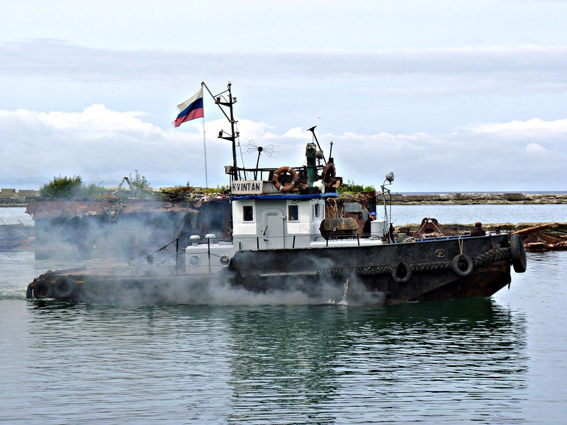 Tug boat in the port of Nevel'sk. (Sakhalin, Russia)