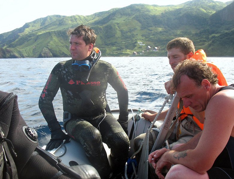 The clear water around Moneron makes it a popular spot for divers.