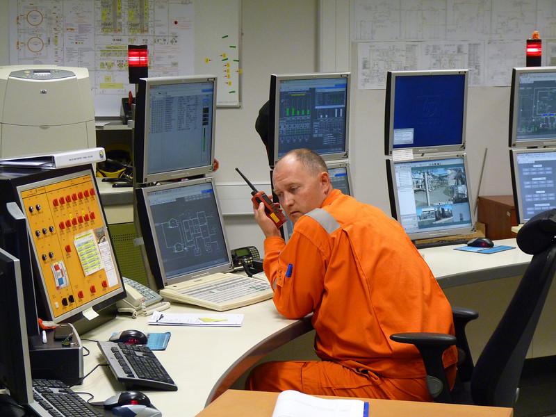 Sakhalin Energy control room.