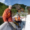 Ilya Turbin, RT cameraman, & Alexey Yaroshevsky, RT correspondent, as we set out for a day on the water before heading back to Yuzhno-Sakhalinsk.
