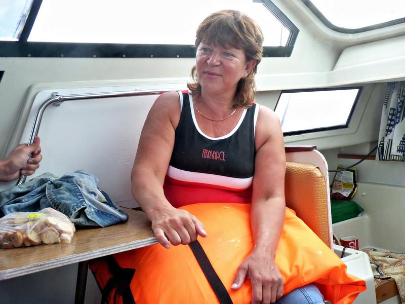Natalia Kruglova, Moneron National Park ecologist, traveled with us.