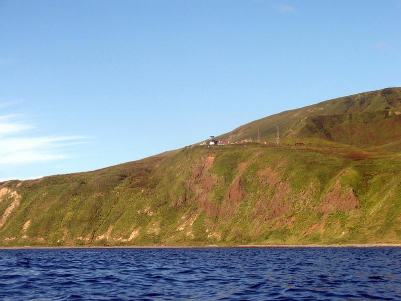 Old Japanese lighthouse on Moneron.
