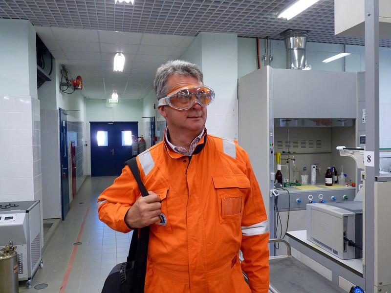 Goggle man.