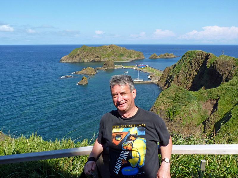 Atop Moneron Island.