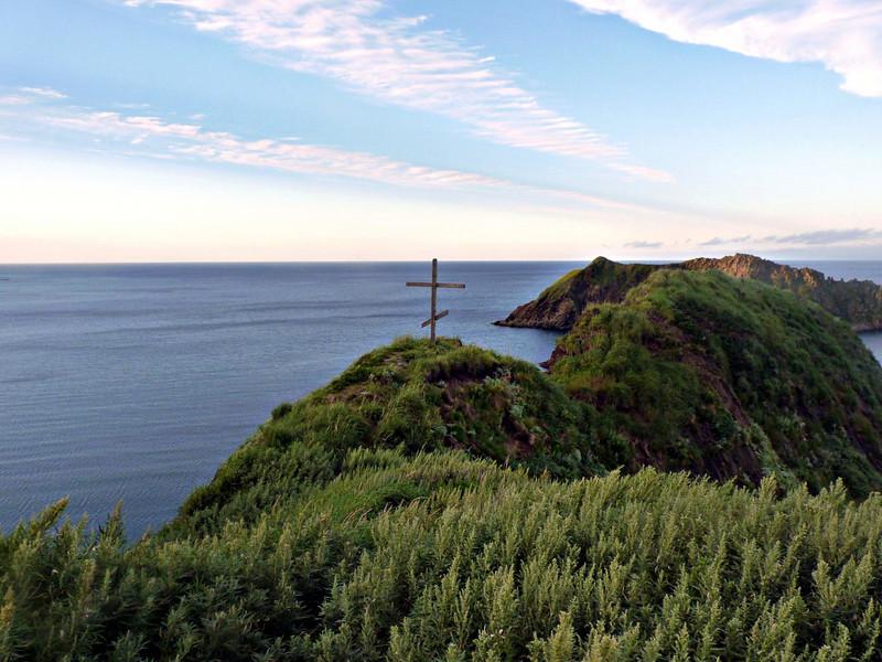 Cross atop Moneron Island.