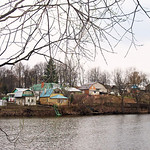 The village of Yasnaya Polyana on the opposite bank of the pond from the Tolstoy estate. Tolstoy once owned the entire village & the villagers, though he liberated his serfs prior to the Tsa ...