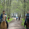 Touring the Tolstoy estate grounds on horseback.