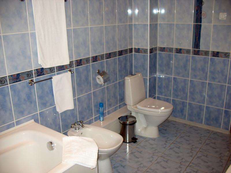 Yasnaya Polyana hotel's huge bathroom.