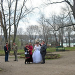 It's traditional for newlyweds to visit Yasnaya Polyana, pay hommage to the Great One, and have their pictures taken.