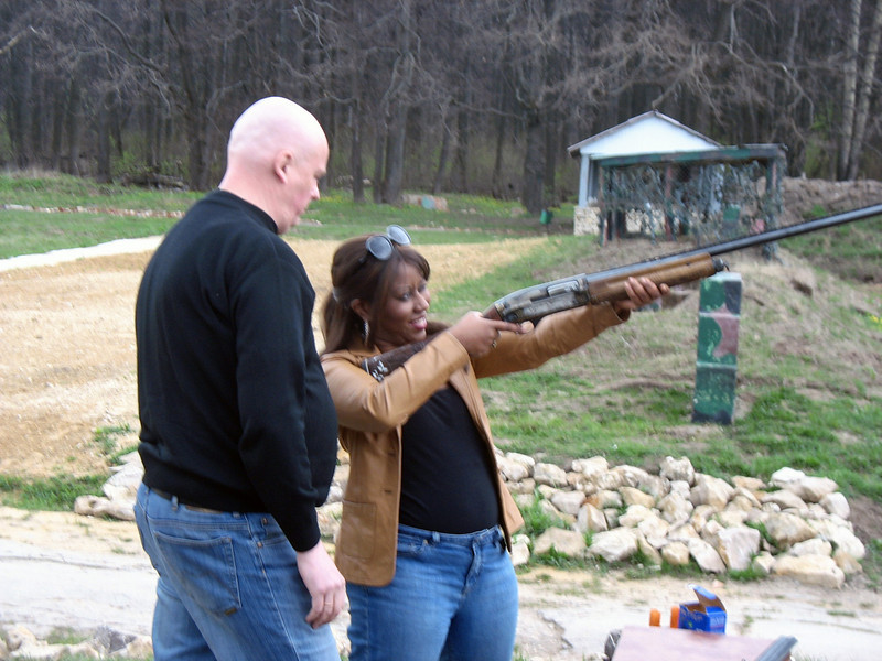 Staci fires one off.