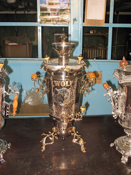 A special order samovar destined for the USA.