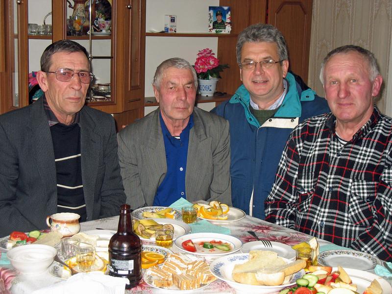 Rustem with Doukhobor men.