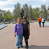 Susan came to Tula for a quick overnight. With Staci in park dedicated to Tolstoy.