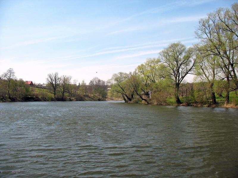 Pond on the grounds of Tolstoy's Yasnaya Polyana estate.