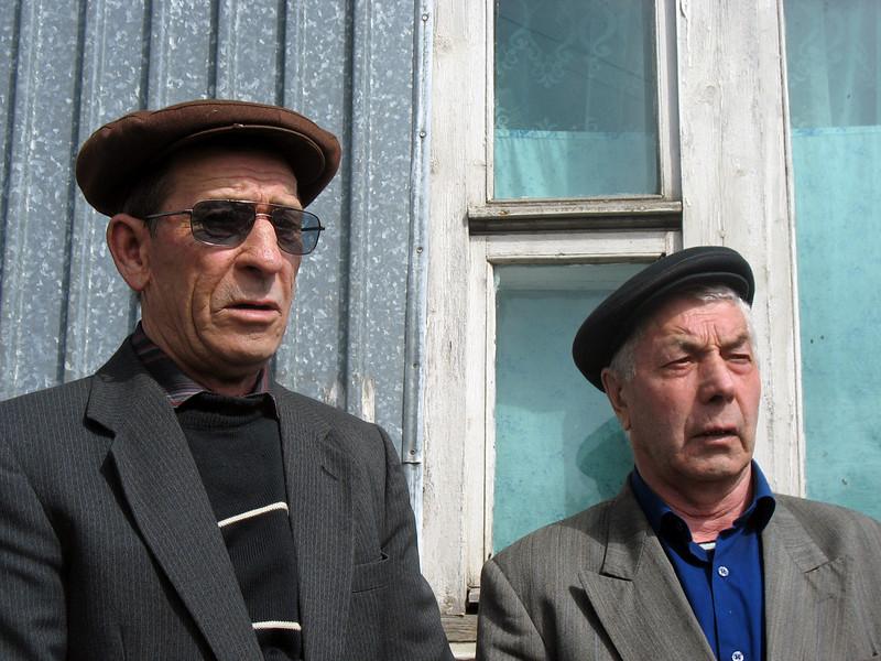 Doukhobor men in their berets.