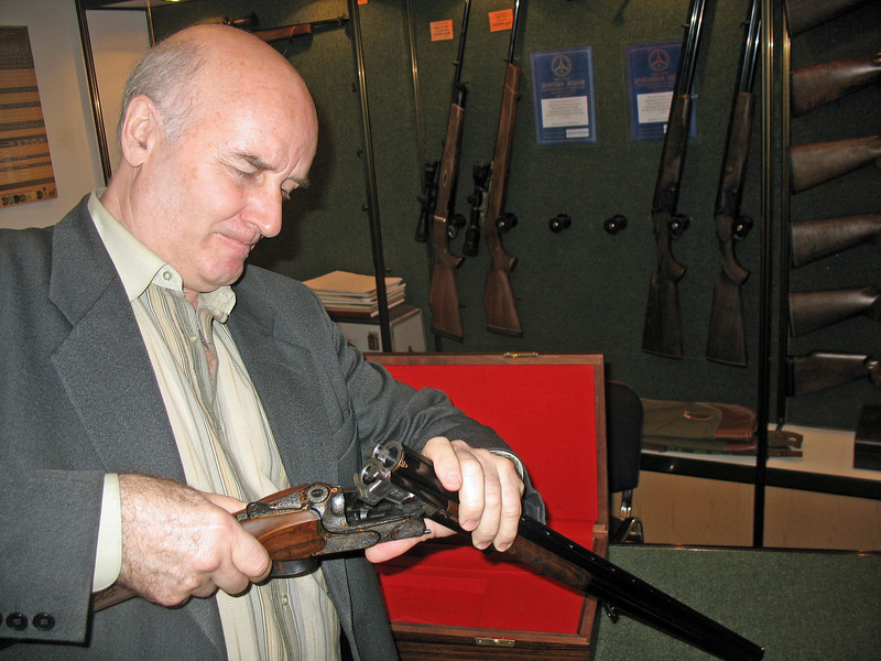 Senior shotgun & rifle designer with his MЦ-7.
