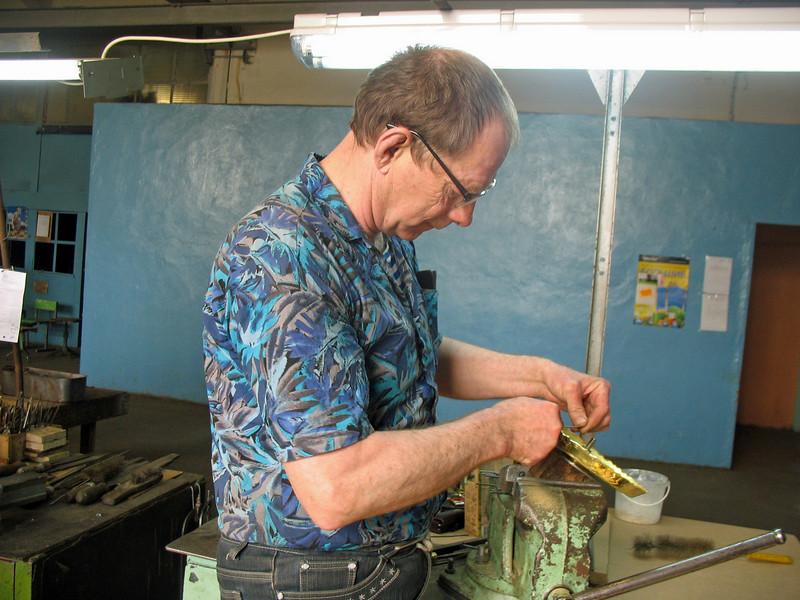 Making a samovar.