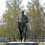 Monument to Leo Tolstoy. Tolstoy Park. (Tula, Russia)