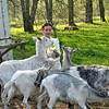 RT correspondent, Leah, with goats.