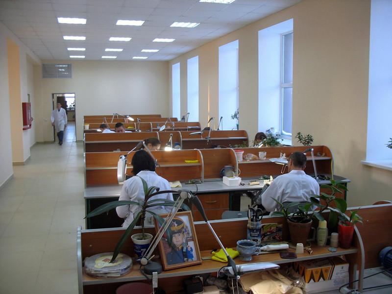 Commercial bone carving workshop in Tobolsk.