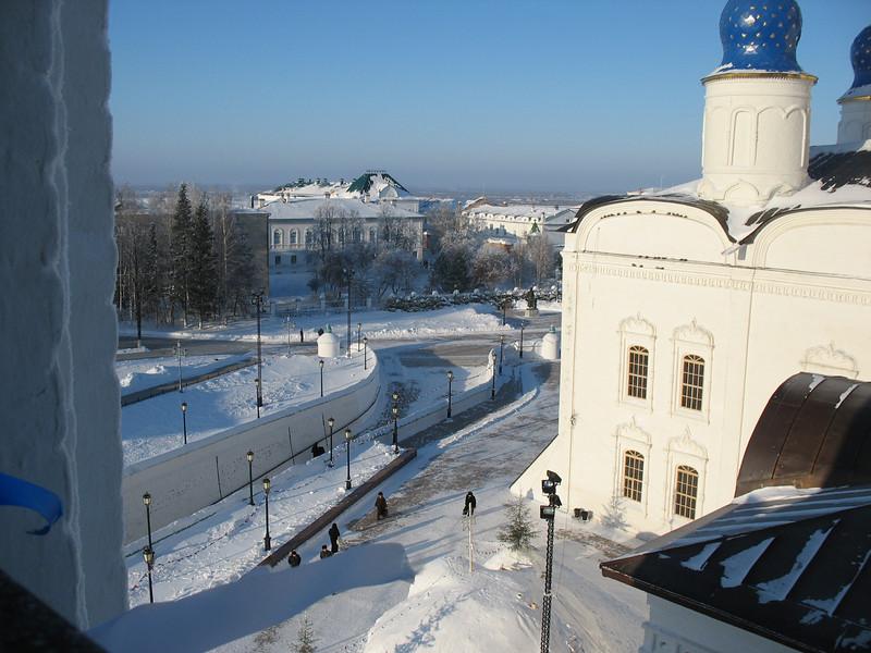 View from Tobolsk Kremlin bell tower.