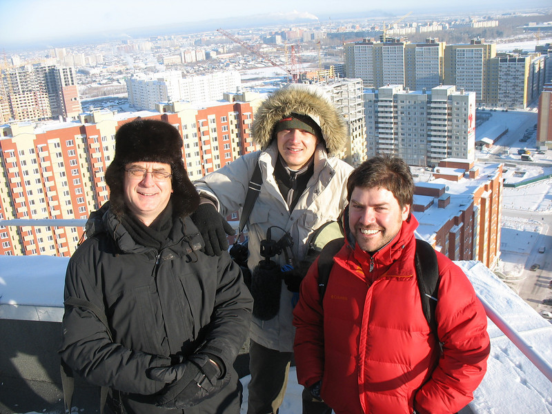 On the roof with with Ilya & Diego.