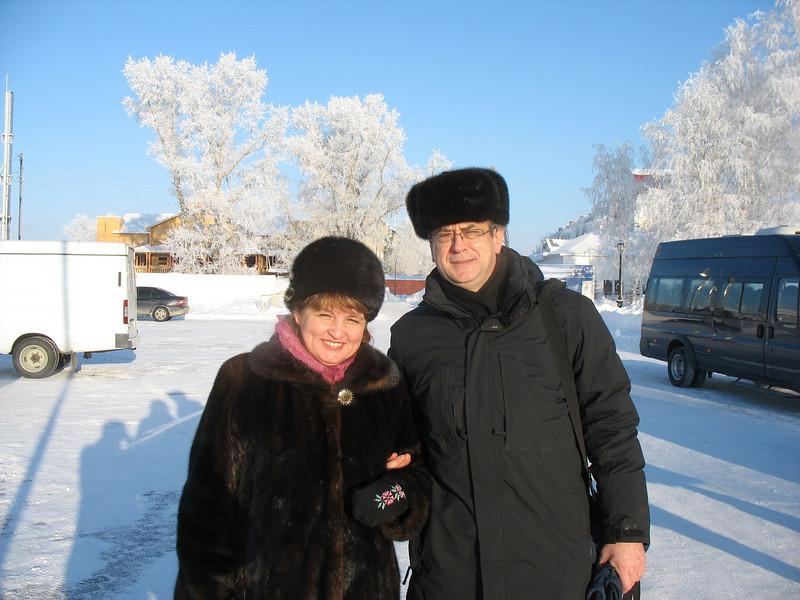 With Gulnur in Tobolsk.