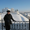 Overlooking Tobolsk's white stone Kremlin, the only one of its kind in Siberia.