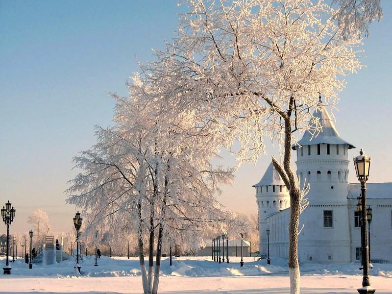White on white. Tobolsk Kremlin.