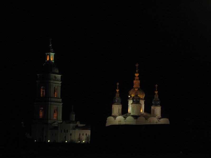 Tobolsk at night.