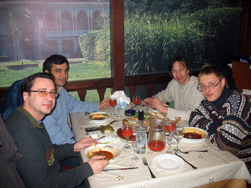 RT crew having lunch at a Georgian cafe in Tyumen.
