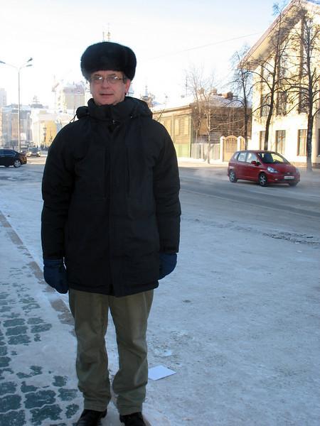 On the street in Tyumen.