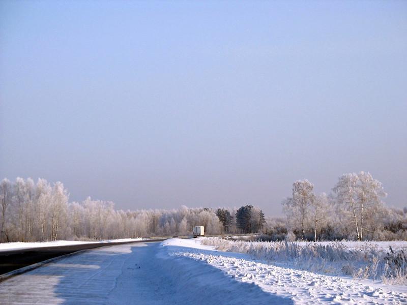 On the road again in western Siberia.