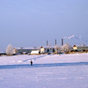 Walking on the frozen Irtysh River. (Tobolsk)