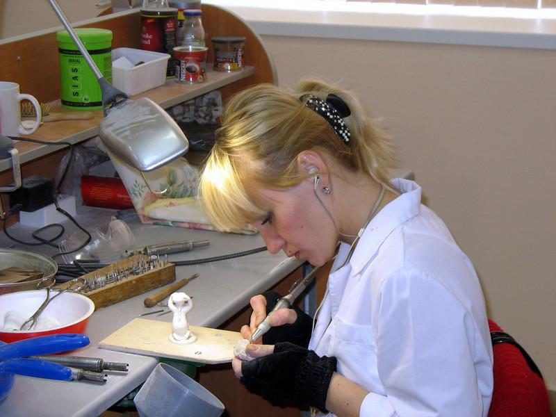 Female bone carver. (Tobolsk)