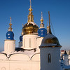 Tobolsk Kremlin church onion domes.