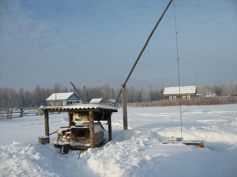 Eskander's well frozen over in winter.