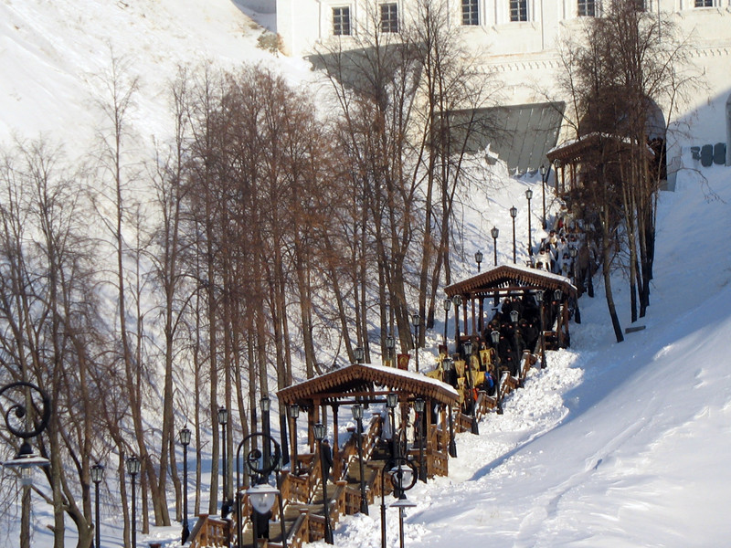 Day of the Epiphany procession from the Tobolsk Kremlin to the Irtysh River .