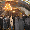 Church service inside a Kremlin chapel. Day of the Epiphany. (Tobolsk)